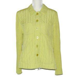SIGRID OLSEN Quilted Lightweight Jacket Lime Green